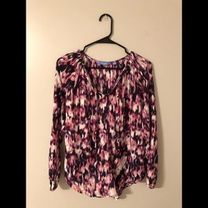 Long sleeve multi-colored blouse by Vera Wang